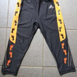 Adidas knee tights in black and orange – size: S