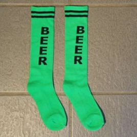 Socks green with beer