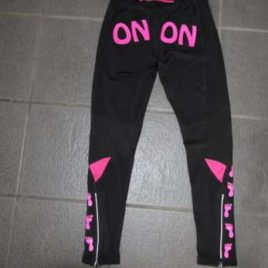 Lady running trousers black with neon pink print Size S