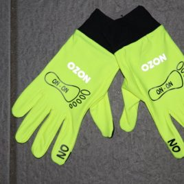 Performance running gloves neon yellow