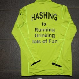 Lime green mens performance top – hash fit