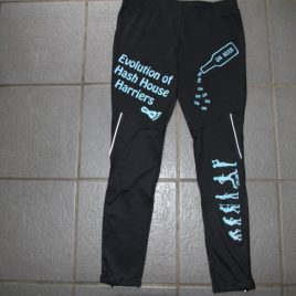 Unisex hashing running tights – light blue print