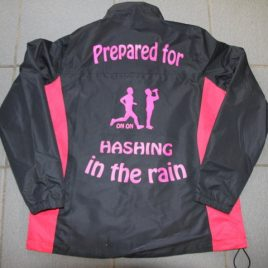 Ladies waterproof hashing jacket