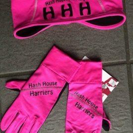 Harreittes running glove – pink line
