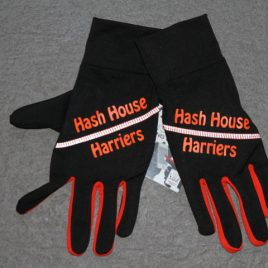 Hashers running gloves – orange line