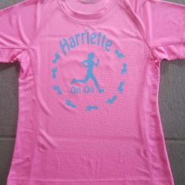 Harriette running hash shirt