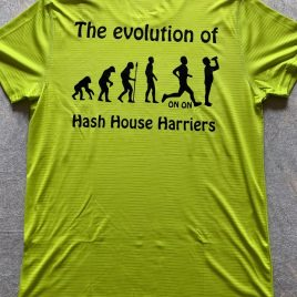 Mens performance Top with your hash name