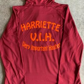 Harriette hoodie hashing top