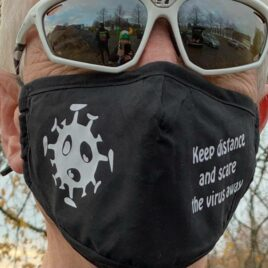 scare the virus away Mask